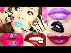 Make any color lipstick ... out of crayons!