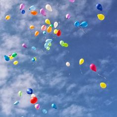 A Rainbow Balloon Sky
