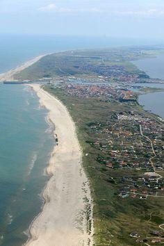 Hvide Sande vorm Hafenausbau.  #Dänemark #HvideSande #Nordsee