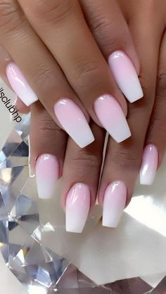 Cute and Beauty Ombre Nail Design ideas for This Year 2019 - Page 18 of 24 - Nails - Nageldesign Ombre Nail Designs, Acrylic Nail Designs, Nail Art Designs, Nails Design, Pedicure Designs, Light Pink Nail Designs, Popular Nail Designs, Pedicure Ideas, Bright Summer Nails