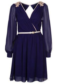 Cocktailkleid   festliches Kleid - blue offwhite Requisiteurin,  Nicht-gerade Weiss, Traumschränke 0fee9e0c3c