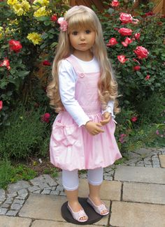 NWT Masterpiece Dolls Emily Blonde With Blue Eyes By Monika Peter-Leicht in Dolls & Bears, Dolls, By Brand, Company, Character Baby Dolls For Toddlers, Toddler Dolls, Child Doll, Girl Dolls, Blonde With Blue Eyes, Strawberry Blonde Hair, Poppy Parker, Realistic Dolls, Blonde Color