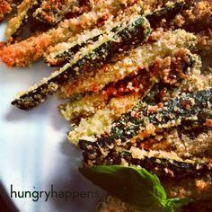 Zuchinni Fries www.hungryhappens.com