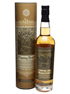 Compass Box Flaming Heart / 2012 Edition : Buy Online - The Whisky Exchange - The fourth release of Compass Box's much-loved Flaming Heart blended malt generated a lot of buzz when it made its debut at Whisky Live Paris 2012, and has arrived with a very smart revamped design...