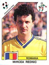Panini Football World - Italy 1990 World Cup - Mircea Rednic - Romania