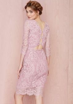 Purple Long Sleeve Keyhole Back Lace Dress 0