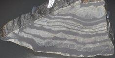 BIF - Jedna z najstarszych skał na Ziemi, pochodząca z kompleksu Isua na Grenlandii i licząca około 3,8 mld lat. Ciemne warstewki są interpretowane przez niektórych naukowców jako efekt działalności życiowej pierwszych organizmów. Fot. James St. John.