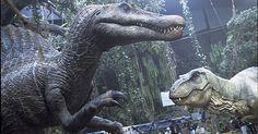 Jurassic Park III's full-size Spinosaurus animatronic comes to life at Stan Winston Studio -- bigger & faster than Jurassic Park's T-rex.