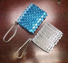 Wallet | Soda Tab | Handmade | MADE TO ORDER | Upcycle Soda Tab Crafts, Can Tab Crafts, Pop Tab Purse, Painting Canvas Crafts, Pop Can Tabs, Birthday Gifts For Teens, Teen Birthday, Soda Tabs, Duck Tape Crafts