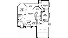 This mediterranean design floor plan is 1623 sq ft and has 3 bedrooms and has 2 bathrooms. Florida House Plans, Florida Home, Mediterranean Design, Square Feet, Floor Plans, Bath, Flooring, How To Plan, Interior Design
