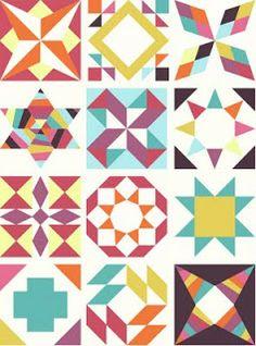 Freshly Pieced Modern Quilts: Summer Sampler Series - Free tutorials for each block