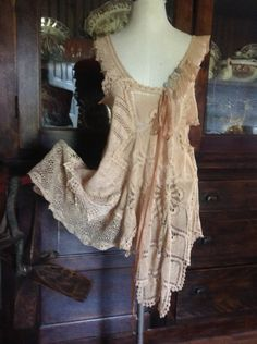 Luv Lucy Victorian Parchment Dress . $165.00, via Etsy.