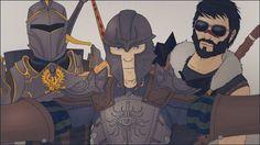 Hero, Inquisitor, Champion selfie