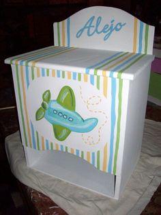 Pañalera Niño Decoupage, Kit Bebe, Baby Birth, Baby Furniture, Toy Chest, Storage Chest, Arte Country, Nursery, Baby Shower