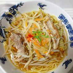細麺があったので。 - 58件のもぐもぐ - 塩ラーメン by akubisamurai