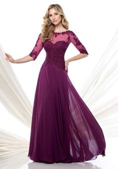 Montage by Mon Cheri 115968 Purple Mother Of The Bride Dress