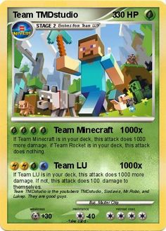 sky+does+minecraft+pokemon+cards | Pokemon Team TMDstudio 3