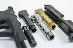 M&P Shield 9 Threaded Barrels in stock and ready to ship! M&p 9mm, Handgun, Firearms, Smith And Wesson Shield, Smith N Wesson, Weapons Guns, Guns And Ammo, S&w Shield 9mm, Garage Tool Storage