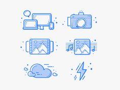Icon set by Vadim Ukrainets Web Design, Flat Design Icons, Icon Design, Logo Design, Graphic Design, Icons Web, Infographic Website, Website Icons, Prince