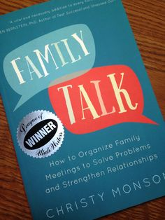 Create synergy in your family this new year. Family talk is a great way to start. Family Meeting, Family Organizer, Problem Solving, Stress, Relationship, Create, Family Reunions, Relationships, Anxiety
