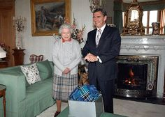 The Queen and Victorian Premier John Brumby at Balmoral Castle.
