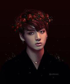 """juditarazo:  """"Next one in bangtan flower crown series, vampire kookie(?)  """""""