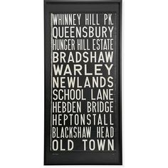 Vintage United Kingdom Trolley Sign, Large ($1,199) ❤ liked on Polyvore