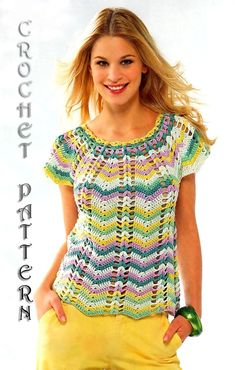 Summer Crochet TOPPattern with Chats only by ErenaCrochetStudio