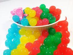 How To Make Bear And Orbeez Jelly Pudding Bath Time 개구리알 젤리 푸딩 목욕하는 핑크 곰돌이