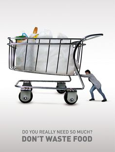 don't waste food by Domenico Liberti, via Behance