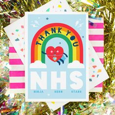 nhs thank you cards / nhs thank you ` nhs thank you rainbow ` nhs thank you art ` nhs thank you poster ` nhs thank you drawing ` nhs thank you cards ` nhs thank you ideas ` nhs thank you colouring Thank You Poster, Thank You Greetings, Printable Thank You Cards, Rainbow Card, White Envelopes, How To Stay Healthy, Your Cards, Crafts For Kids, Stationery