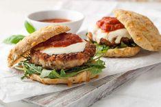 Gluten Free Chicken Parmesan Burgers Recipe | Simply Gluten Free