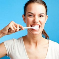 4 STEPS TO WHITEN TEETH WITH BAKING SODA-I did this and it burned my mouth. I would reccomend watering it down a bit as well.