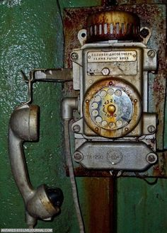 There is something beautiful with abandoned places. Some of the architecture is unbelievable and I always wonder why it was abandoned in th. Abandoned Mansions, Abandoned Buildings, Abandoned Places, Derelict Places, Antique Phone, Vintage Phones, Old Phone, Foto Art, Dieselpunk