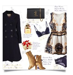 """ChristmasDinnerDate"" by fashionaddict-il ❤ liked on Polyvore featuring Gianvito Rossi, Yves Saint Laurent and Marc Jacobs"