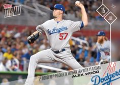 2017 Topps Now -- #351, #355, #356 -- Puig's Homers, Bellinger's Cycle and Wood's Eleventh Win