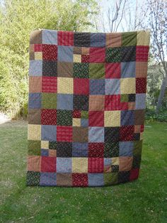 This is Donna's Flannel quilt and it is made up from all her ... : how quilts are made - Adamdwight.com
