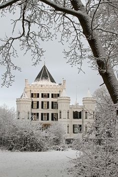 so pretty!! love houses in the winter!!