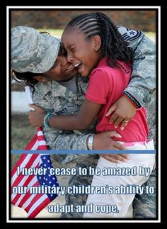 Military children are some of the toughest kids you will ever meet; this photo has a lot of emotion. Military Brat, Military Love, Military Families, Military Spouse, Military Veterans, Soldado Universal, Hugs, Military Homecoming, The Embrace
