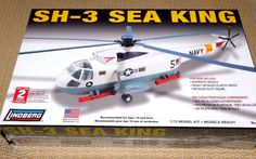 SH-3 U.S. Navy SEA KING Model  1/72 Kit by Lindberg  Sealed in Box  NO. 71140 Ma #Lindberg