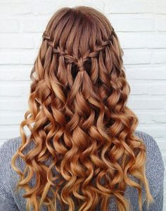 Curls Braids And Curls, Hair Styles With Curls, Curly Hair With Braids, Braids With Curls Hairstyles, Hair Styles Homecoming, Prom Hair With Braid, Curly Hair Braid Styles, Braid Hair Styles, Braided Prom Hair