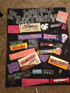 60th Birthday Candy Bar Card 70th Birthday Party Ideas