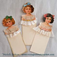 Victorian girl tags from the Vintage Inspiration Folder kit.