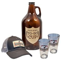 My To Go Cup Growler Hat Pint Glass Gift Set