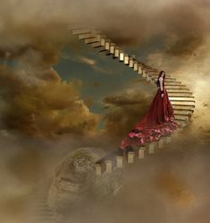 Paintings of stairways to heaven | Stairway to heaven by rosannjoh