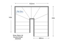 Double Winder Stairs SSDW26 [SSDW26] - £0.00 : Shaw Stairs Ltd