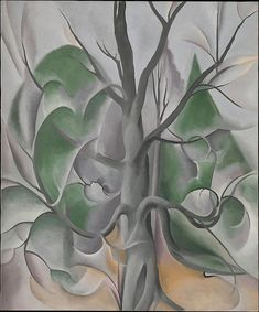 """Grey Tree, Lake George,"" 1925, Georgia O'Keeffe. Oil on canvas; 36 x 30 in. (91.4 x 76.2cm) Alfred Stieglitz Collection, Metropolitan Museum of Art, New York."