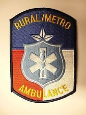OLD RURAL METRO AMBULANCE PATCH TX TEXAS POLICE FIRE RESCUE EMS EMT PARAMEDIC