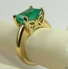 Natural Colombian Emerald Ring  Yellow Gold 2.45 Cts by JR Colombian Emeralds
