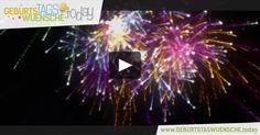 Geburtstagswünsche – Geburtstagsvideo mit einem bunten Feuerwerk und wunderschönen Geburtstagslied.